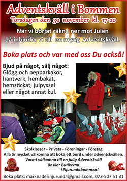 Adventskväll i Bommen