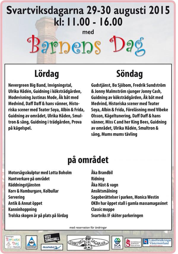 Affisch Svartviksdagarna 2015