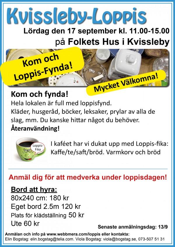 KvisslebyLoppis Affisch 2016